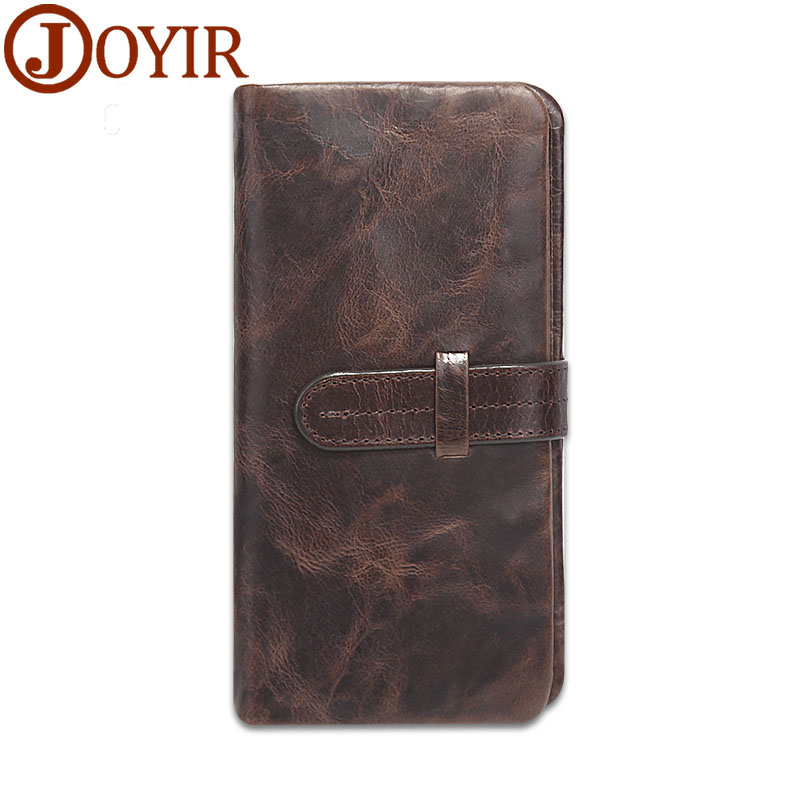 JOYIR Genuine Leather Men Wallets Hasp Design Business Male Wallet Fashion Purse Card Holder Long Clutch Wallets Men Gift 520 сетевой кабель бухта 305м utp 5e neomax nm10001 медь 4 пары одножильный 24awg 0 51мм 125мгц 89 ом pvc taiwan