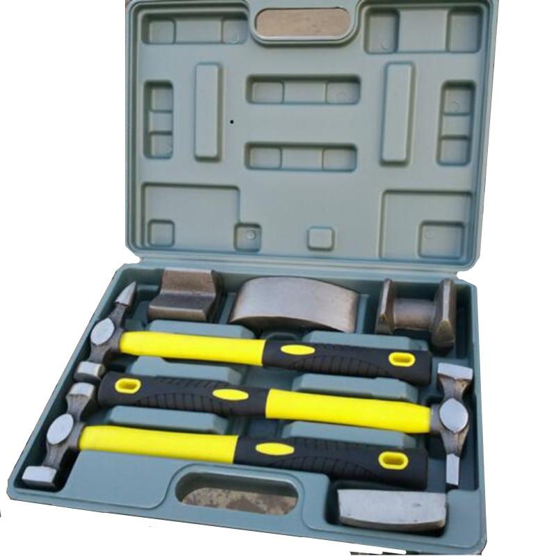 # 7PCS Auto Body Dent Repair Hammer Dolly Tool Kit Panel