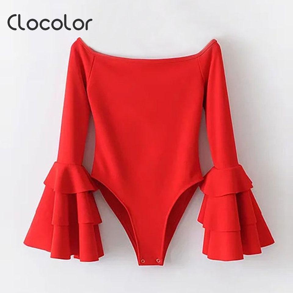 Clocolor Для женщин комбинезон Тощий спинки высокой талией Твердые шорты сексуальные красный, белый 2018 модные женские туфли комбинезоны