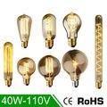 40 Вт Классическая Старинные Ретро E27 Накаливания ST64 G95 Эдисон Лампочка Теплый Белый 110 В Антикварной Лампы Накаливания старинные лампы