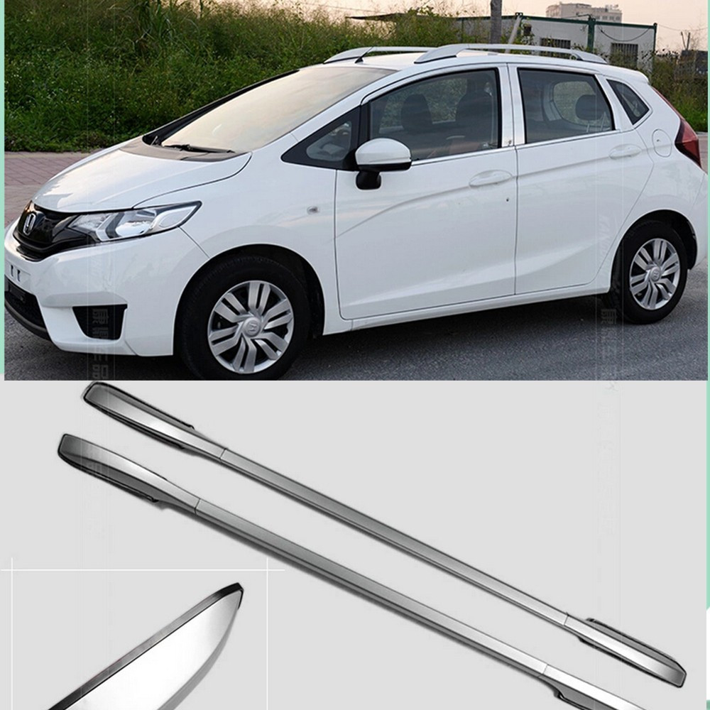 Aliexpress com buy decorative side bars rails roof rack silver fit for honda fit jazz 2014 2015 from reliable jazz honda suppliers on suv decoration