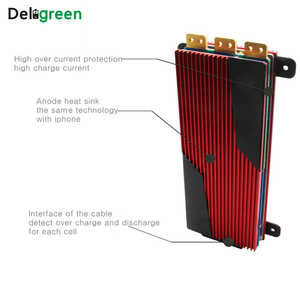 Image 2 - Deligreen 14S 80A 100A 120A 150A 200A 250A 48V PCM/PCB/BMS für 3,7 V LiNCM batterie pack 18650 Lithion Ionen Batterie mit balance