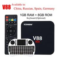 SCISHION V88 4K Android 7.1 Smart TV Box Rockchip 3229 1G/8G 4 USB 4K 2K WiFi Full Loaded Quad Core 1.5GHZ Media Player PK A95X