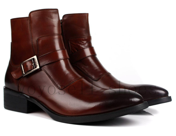 Leather Dress Boots Mens - Cr Boot