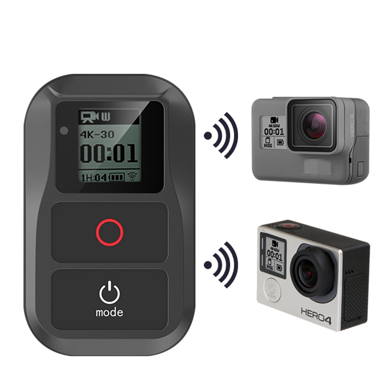 US $34 18 16% OFF|Universal Wifi Remote For Gopro Hero 7 Black 6 5 4  Session Go pro 5 6 3+Waterproof Smart Remote Control Charging Cable Kits-in