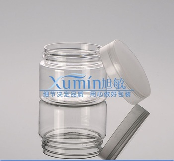 100pcs 50ml clear PET jar, Pill Container Plastic Medicine Box with clear Cover, Food Grade Material 50g cream clear PET Jar