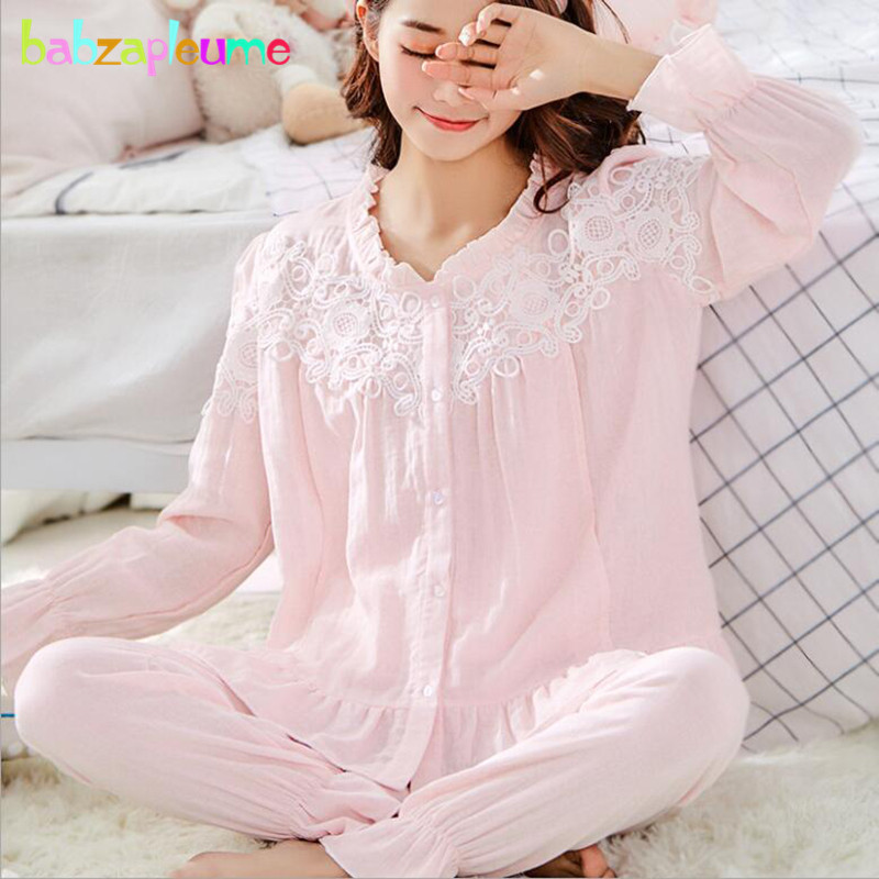 2Piece Spring Summer Pregnancy Breastfeeding Nightwear Cotton Tops+Pants Maternity Nursing Pajamas Set Womens Clothes BC1807-12Piece Spring Summer Pregnancy Breastfeeding Nightwear Cotton Tops+Pants Maternity Nursing Pajamas Set Womens Clothes BC1807-1