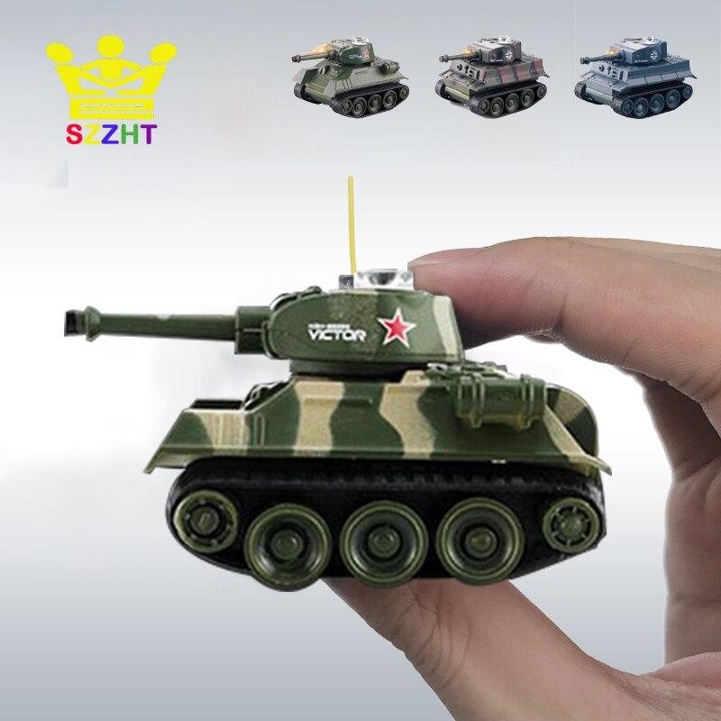 Super Mini RC tanque Tigre juguetes electrónicos modelo para niños imitan escala Control remoto Radio tanque Control Radio controlado