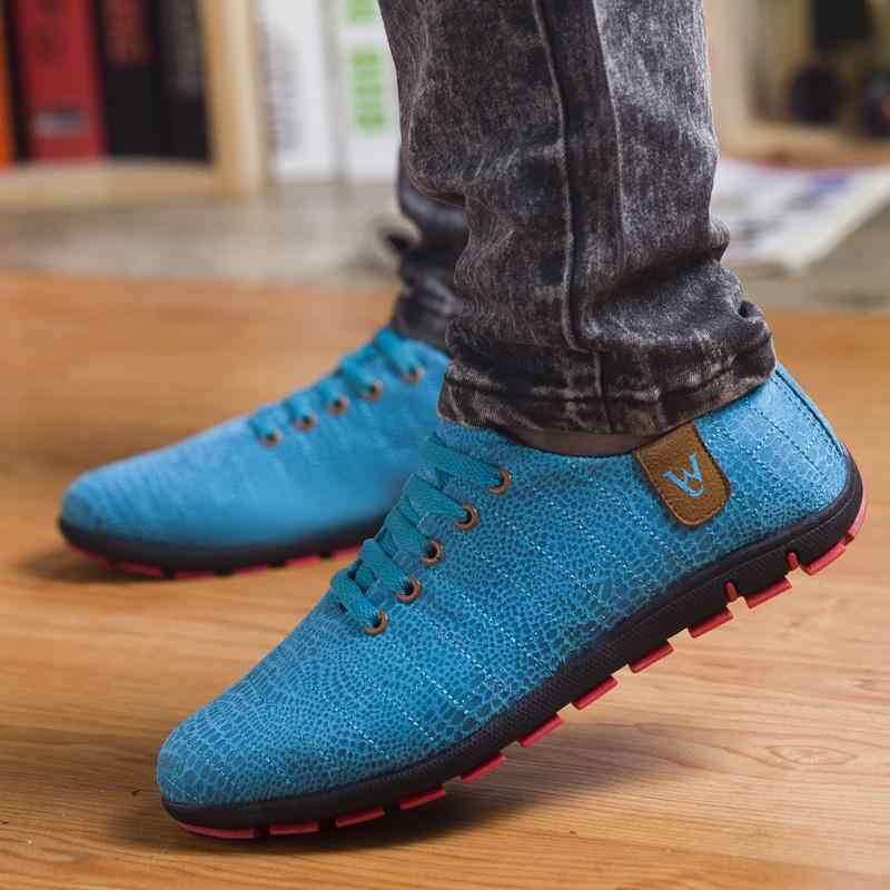 ฤดูใบไม้ผลิ/ฤดูร้อนรองเท้าผู้ชาย Breathable รองเท้าบุรุษรองเท้าสบายๆแฟชั่นต่ำ LACE-up รองเท้าผ้าใบ Zapatillas Hombre PLUS ขนาด 45,46, 47