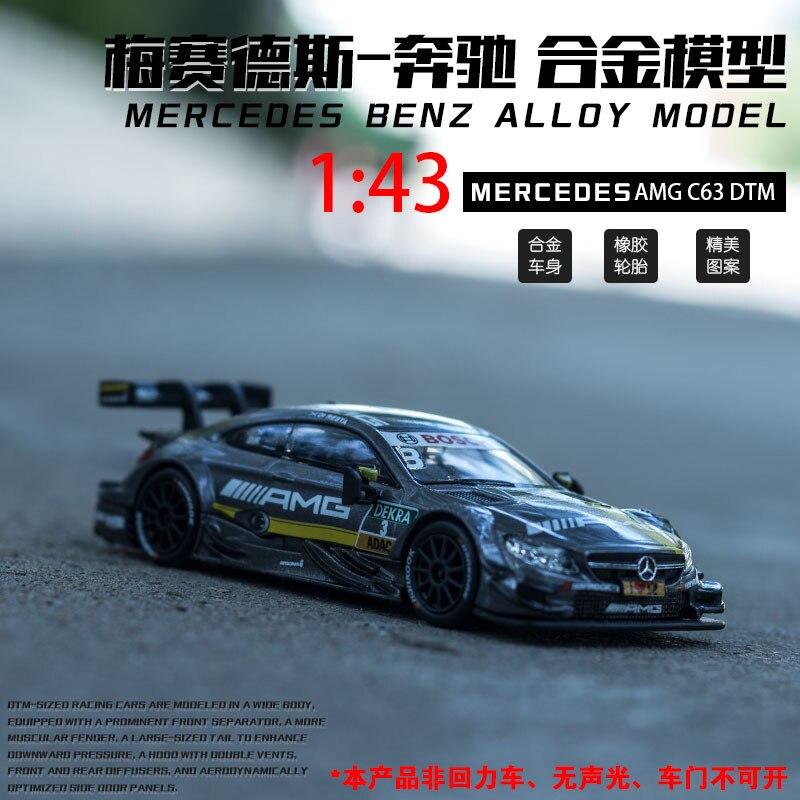(boxed) Mercedes-benz Dtm Racing Lahua Model Legering Auto Speelgoed Decoratie Speelgoed 1:43 Auto Model Eerste Kwaliteit