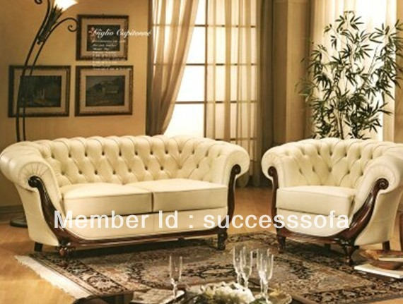 Antique Italian Furniture Comfortable Leather Sofas In