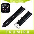 24 мм Натуральная Кожа Ремешок Для Часов + Инструмент + Весенние Бары для Sony Smartwatch 2 SW2 Часы Наручные Обычный Ремень Браслет Черный Коричневый