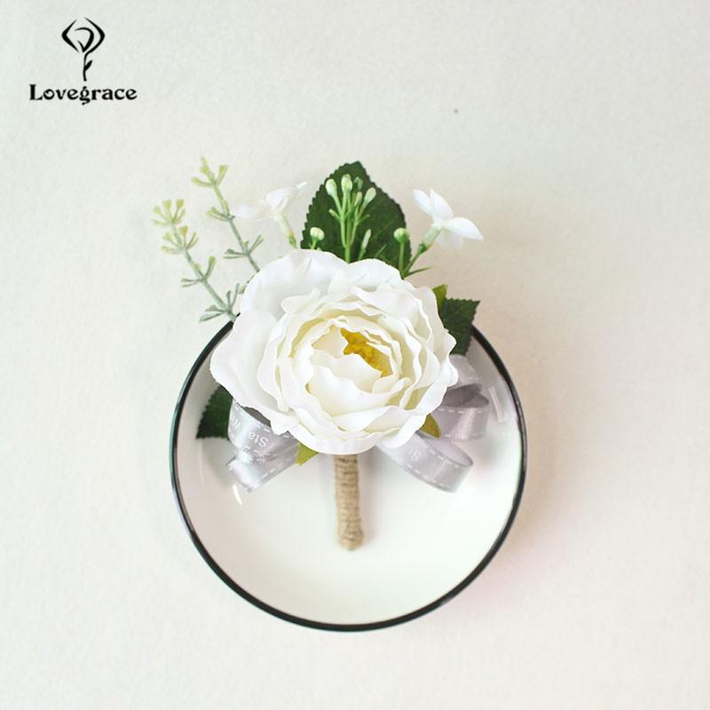 white Pink roses wedding  wrist corsage bracelet bridesmaid Boutonniere flowers (91)