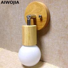 купить The modern bedroom living room wood LED creative wall lamp bedside lamp E27 Luminarias De Interior Wall Lamp Bedroom дешево