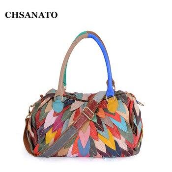 CHSANATO Boston Hand Bag Women Tote Leather Bags Handbags Women Famous Brands Female Crossbody Bags For Women 2019 Sac A Main