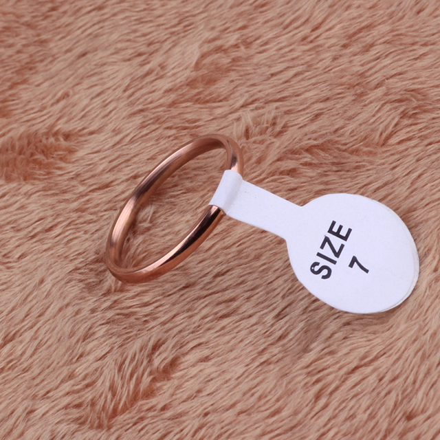 Rose Gold Color Stainless Steel  Ring