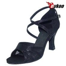 Evkoodance Sexy Leopard Color de Cuatro Estilo Zapatos De Baile Puede Ser Elige 7 cm Altura Del Talón de Satén Zapatos de Baile de Mujer Evkoo-091