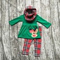 baby winter OUTFITS girls 3 pieces sets with scarf sets girls reindeer clothing baby girls boutique clothes reindeer outfits