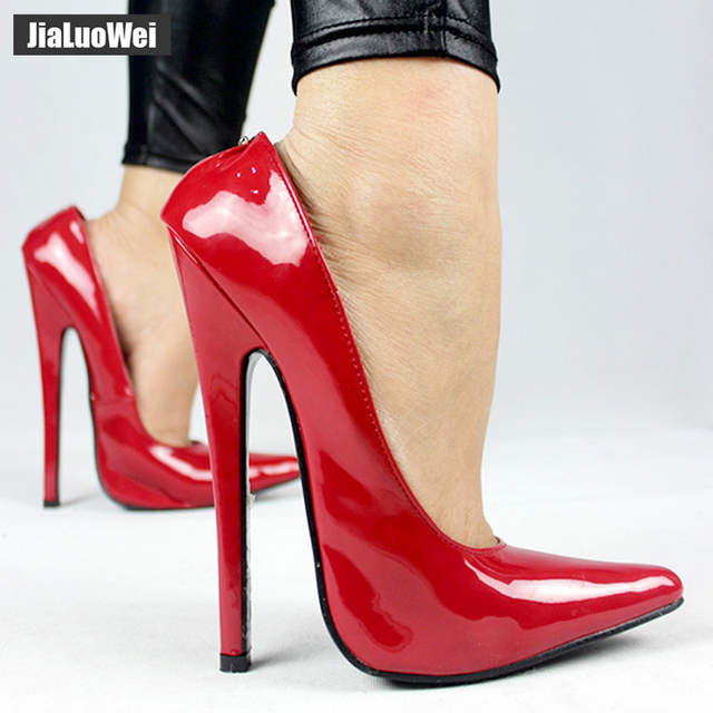 b774c03fcd7fe2 Online Shop jialuowei Women 18cm Extreme High Heel Pumps Pointed Toe Sexy  Fetish Stiletto Thin Heels Wedding Party Summer Unisex shoes