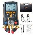 Kälte Gauge Digitale Verteiler Kit für Testo 557 mit Clamp Sonden mit Bluetooth und externe vakuum gauge