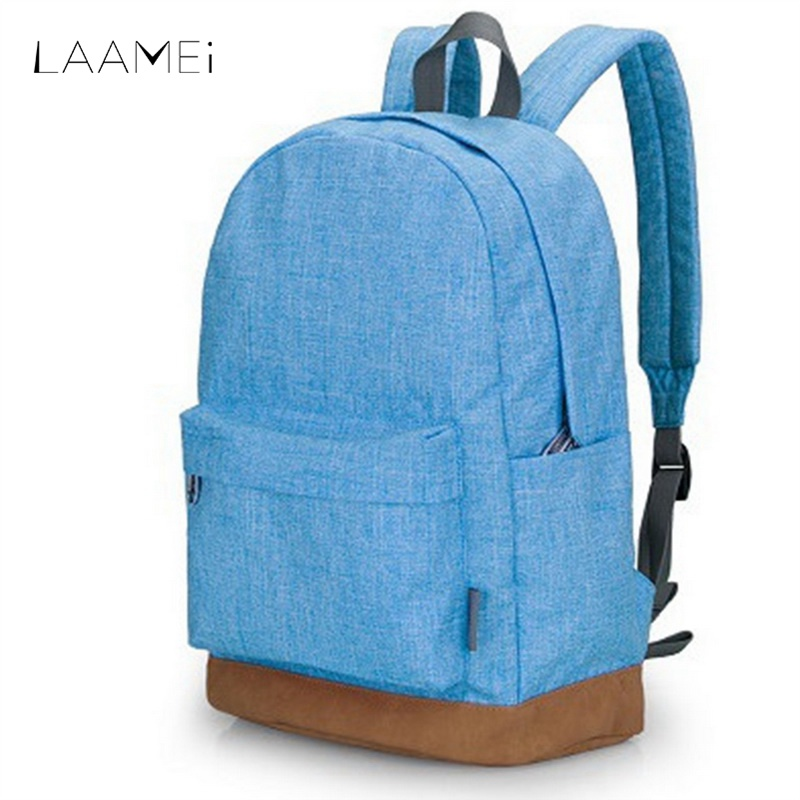 Laamei Canvas Large Capacity Travel Backpack Students Portable Travel Storage Bag Women Men Candy Colors Schoolbags Backbags