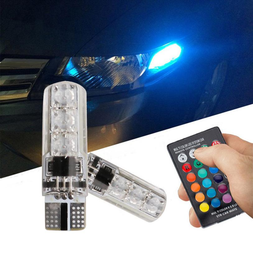 Auto led light 2x T10 5050 LED RGB Multi-color