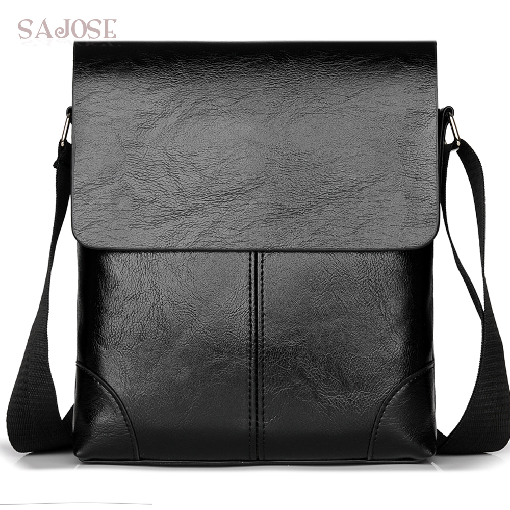 Crossbody Bag For Men Leather Shoulder Bag Casual Business Male Messenger Bags Vintage Mens Designer Black Handbag Drop Shipping