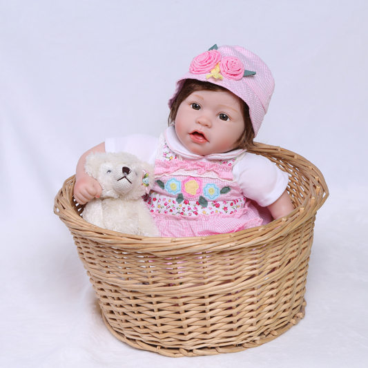 50cm Soft Silicone Vinyl Reborn Toddler Baby Doll 20 Newborn Babies Lovely Toddler Doll Girl Brinquedos Child Toy Birthday Gift 50cm silicone reborn babies doll toys lifelike vinyl lovely princess toddler doll kids birthday gift child girl brinquedos