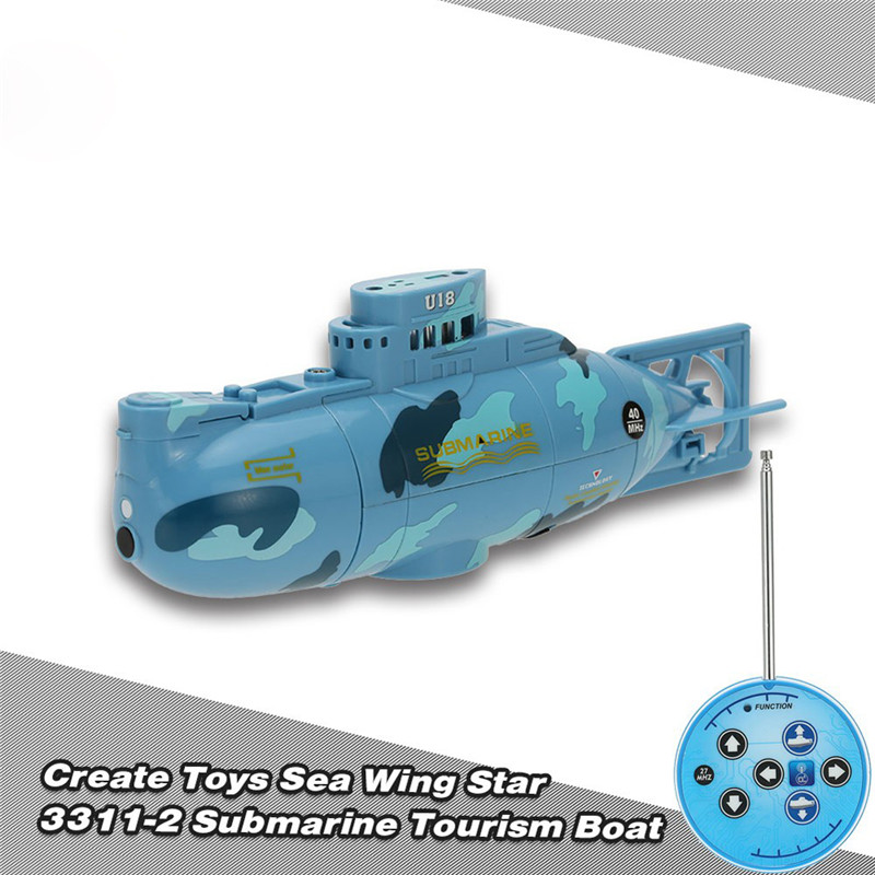 Sea Wing Star 27MHz Radio Controlled RC Submarine Tourism Boat Electric Powered Racing Boat Waterproof RC Toy FCI#
