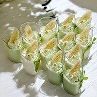 50 шт. мусс десерт косой чашки пластиковая чашка для пудинга одноразовые вечерние молочные удобные Tiramisu День рождения Свадьба мороженое чаш...