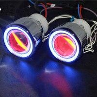 2 0 Inch HID Bi Xenon Projector Lens Headlight Headlamp Spotlight With CCFL Angel Eye Halo