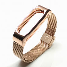 Screwless Xiaomi Mi Band 2 Strap Alloy Metal For Original Miband2 OLED Smart Bracelet Wristband Amazfit Sports Smart Watch band(China)