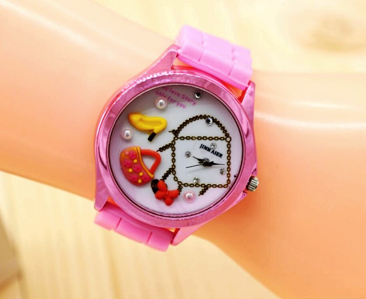 ФОТО  2016 new More design casual watch woman and girl quartz watch silicone watch women dress watches 10pcs/lot