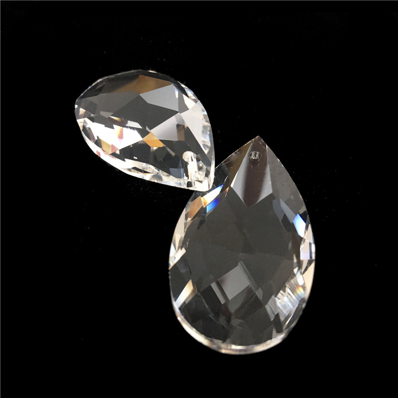 162PCS LOT 50mm Crystal Prism Teardrop Crystal Penant For Chandelier Prism Parts Free Shipping