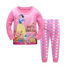 Купить с кэшбэком 2019 Girls Pink Priness Pijamas Kids Cartoon Pajamas Boy Autumn Pijamas Sets For 2-7Y