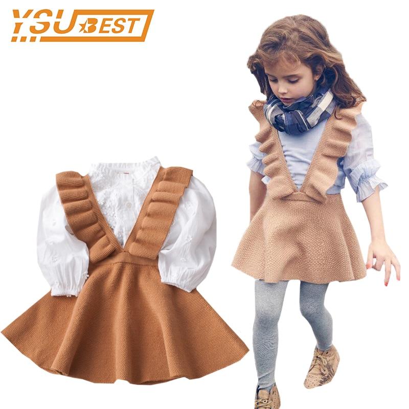 Knitted Cute Baby Girls Dress Toddler Girl Knit Dress Handmade ...