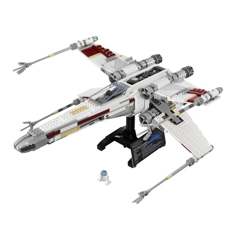 Lepin 05039 1586pcs Star war Building Blocks toys X-wing Red Five Starfighter kids Bricks Boy toy gifts Compatible Legoe 10240 75102 star wars 7 red five poe s x wing starfighter tie fighter original blocks bricks building kits compatible with legoe