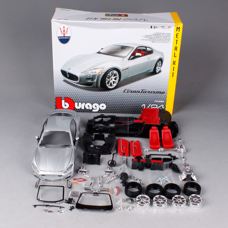 Bburago 1:24 Maserati GT Gran Turismo Assembly DIY Racing Diecast Model Kit Kits Car Toy New In Box Free Shipping 25083 new diy analog delay 1 pedal kits with 1590b diecast aluminium box free shipping