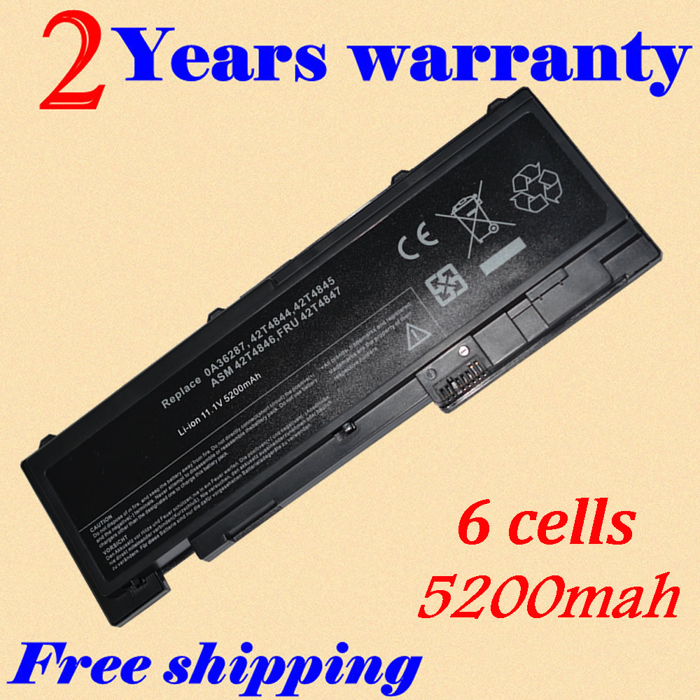 JIGU 5200mah Laptop Battery For Lenovo 0A36287 42T4845 ThinkPad T420s T420si 4171-A13 11.1V ASM 42T4846 FRU 42T4847