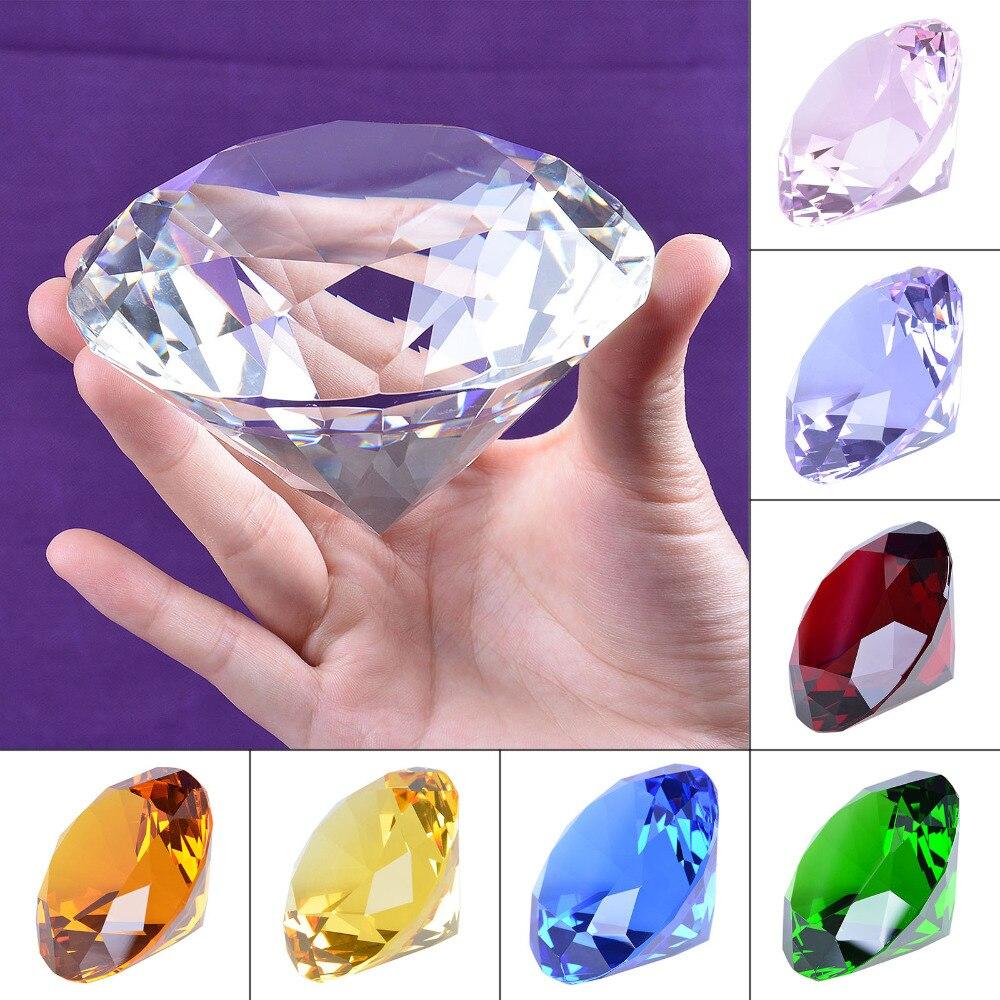 №Buque de ee.uu. 100mm claro de cristal de diamante pisapapeles casa ...