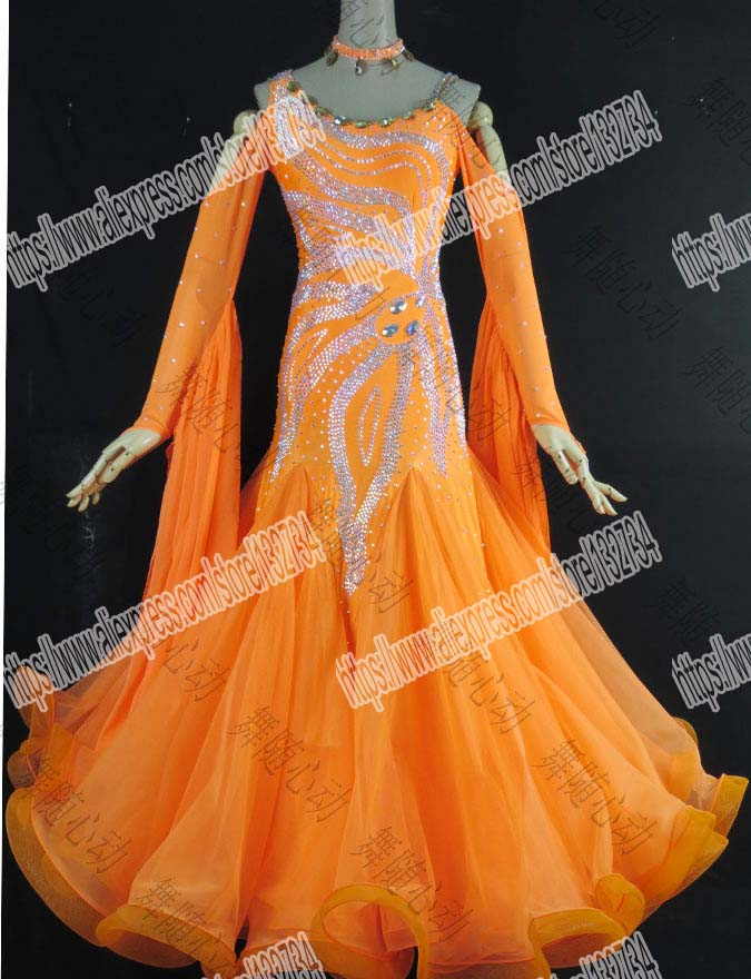 New style Latin Ballroom dance costume sexy diamond latin dance competition dresses Tango dance dresses