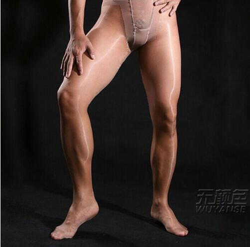 Hot New Men's underwear sexy bright silk rompers stockings Male ultra-thin transparent Core-spun Yarn pants door silk pantyhose