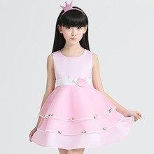 2016 новых детей Пачка платье девушки цветка носить с короткими рукавами платье детей платье Принцессы Платье Девушки