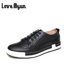 Высокое качество толстой подошве мужские кожаные туфли повседневная классическая мужская модная дышащая обувь на плоской подошве Молодые Мужские удобные 38-44 AA-53