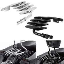 Motorcycle Stealth Rear Luggage Rack For Harley Electra Glide Road King 1999-2008 Black Chrome