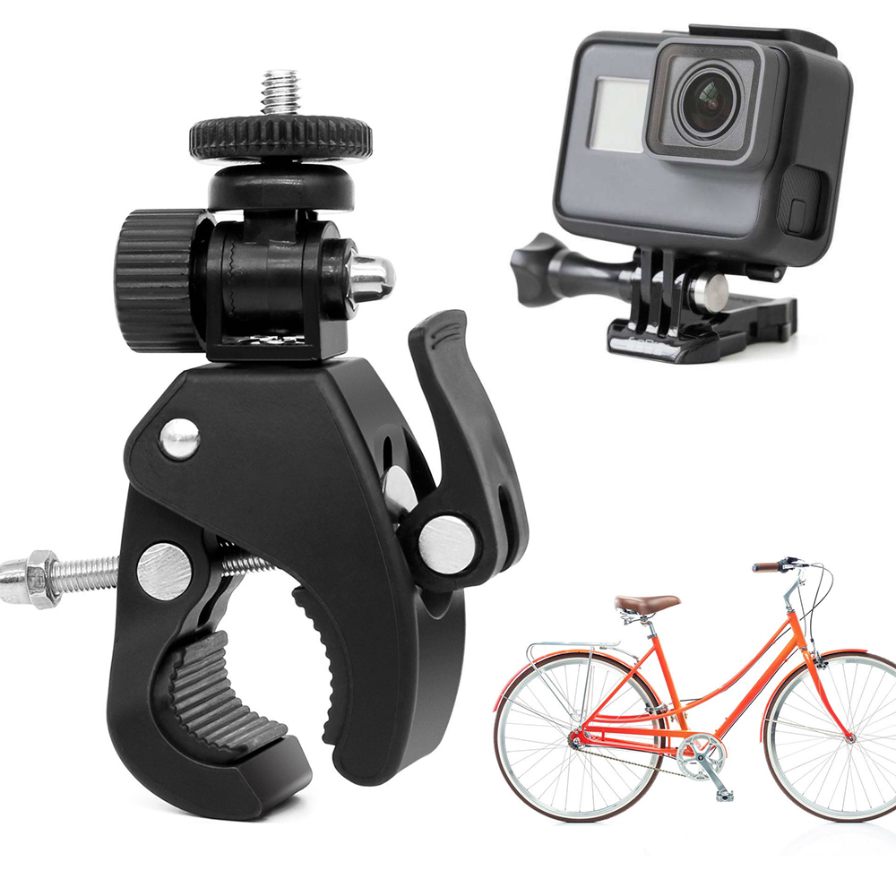 jinxer Aluminum Camera Bracket,Dual Ball Head Diving Clamp Mount for Underwater Photography Compatible with Go Pro Action Camera R-3
