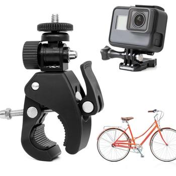 цена на Action Camera Sports 360 Degree VR Camera Bike Mounting Bicycle Motorbike Handlebar Clamp Bracket Holder Mount for Gopro Hero