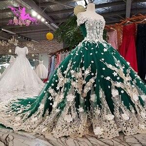 Image 4 - AIJINGYU サテンフリルトリムセクシーなショートドレス格安デザイナーカスタムボール母の花嫁衣装安価なウェディングドレス