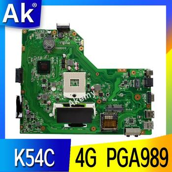 AK K54C Laptop motherboard for ASUS K54C X54C K54 K54Ly K54hR Test original mainboard 4G RAM PGA989