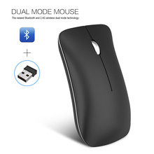 лучшая цена HXSJ T32 Dual Mode Bluetooth Mouse Wireless Mice 1600DP1 USB Rechargeable Optical Mouse Office Quiet Mouse For Computer Laptop